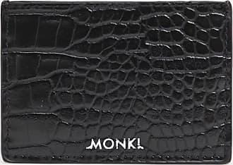 Monki Cia - Portacarte nero con stampa coccodrillo