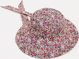Mango Cappello da pescatore con laccetto e stampa floreale-Rosa