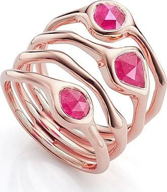 Monica Vinader Siren Cluster Cocktail Pink Quartz ring - GOLD
