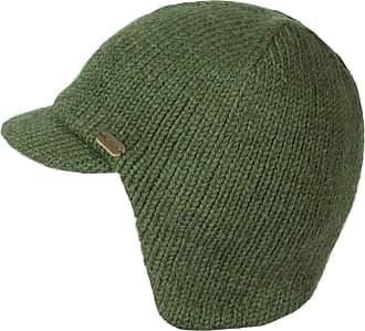 KuSan 100% Wool Fleece Lined Peaked Cap with Ear/Neck Warmer (Khaki)