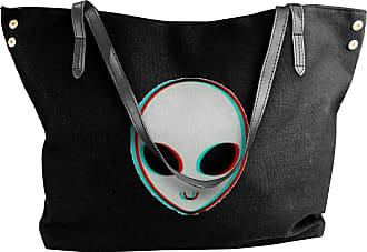 Juju Alien Trippy Psychedelic Space Womens Classic Shoulder Portable Big Tote Handbag Work Canvas Bags