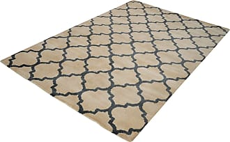Dimond Home Wego Handwoven Printed Wool Rug In Natural And Black - 5ft x 8ft