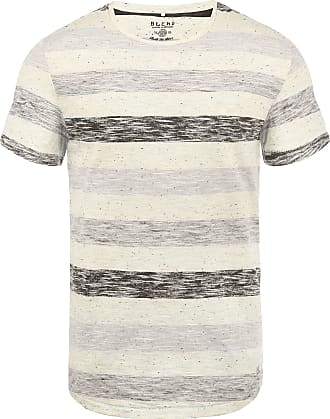 Blend Efkin Mens Striped T-Shirt Short Sleeve Shirt Tee with Crew Neck, Size:M, Colour:Steepl Grey (75121)