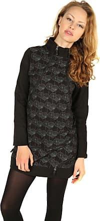 Gheri Womens Warm Long Sleeve Winter Knee Length Black Gothic Polo Neck Zip Dress Size 14