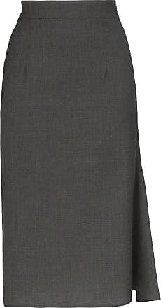 Wright Le Chapelain Saia lápis cintura alta - Cinza