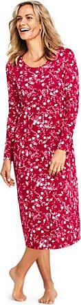 17a472fc7d1 Lands End Womens Petite Supima Patterned Long Sleeve Calf-length Nightdress  - 10 -12