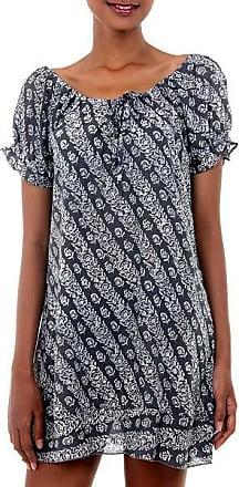 Novica Batik dress, Gardenia Fantasy