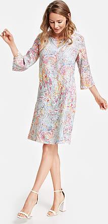 eccf30cdf74a7f Gerry Weber Kleid aus bedrucktem Leinen Ecru-Beige Damen