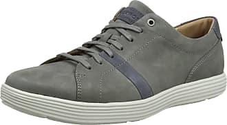 Rockport Mens Thurston Lace up Trainers, Grey (Grey/Blue), 8.5 UK 42.5 EU