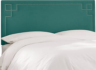Skyline Furniture Skyline Geometric Nail Button Linen Upholstered Headboard Antique Red, Size: Queen - 592NB-BRLNNANTRD