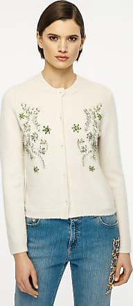 Escada Cashmere Silk Embellished Cardigan