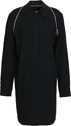 88ff5880738 Alexander Wang Alexander Wang Woman Zip-detailed Satin-crepe Mini Shirt  Dress Black Size