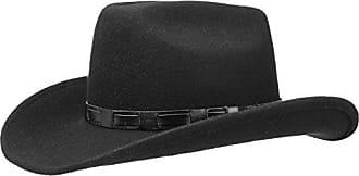 LIPODO Westernhut mit Kinnband Hut Wollfilzhut Cowboyhut Kinnriemen
