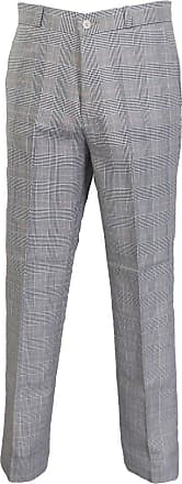 Relco Mens Classic Retro Mod Sta Press Trousers (34, Prince of Wales)