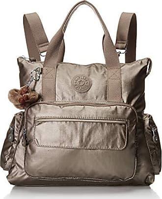 Kipling Womens Alvy 2-in-1 Convertible Tote Bag Backpack, Wear 2 Ways, Zip Closure, Metallic Pewter