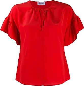 Red Valentino Blusa com babados nas mangas - Vermelho