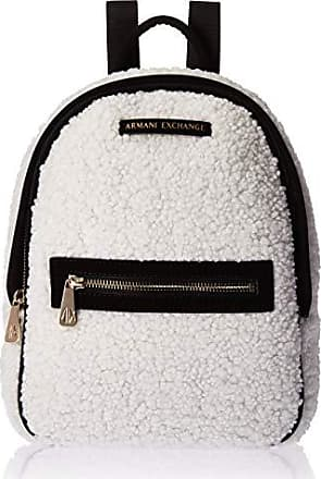 A|X Armani Exchange Faux Shearling Backpack, martini
