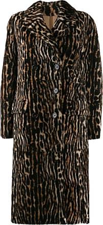 Yves Salomon ocelot print coat - Brown