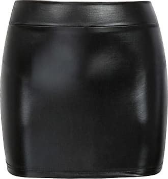 The Celebrity Fashion New Womens Jersey High Waist Bodycon Mini Skirt Elasticated Short Skirts UK 8-14