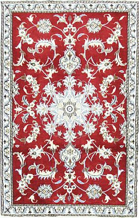 Nain Trading 142x90 Handknotted Nain Rug Beige/Orange (Wool/Silk, Iran/Persia)