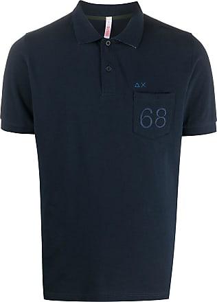 Sun 68 Poloshirt mit 68-Logo - Blau