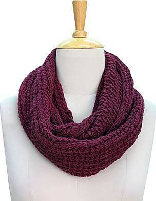 Novica Wool infinity scarf, Burgundy Legacy
