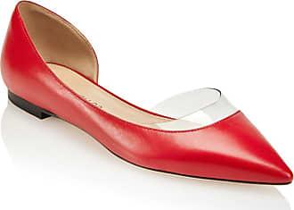 Tamara Mellon Darling Red Capretto Flats, Size - 35.5