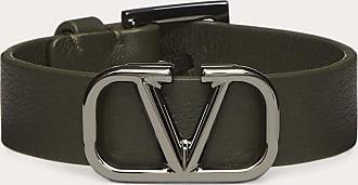 Valentino Garavani Valentino Garavani Uomo Vlogo Signature Leather Bracelet Man Olive 100% Pelle Di Vitello - Bos Taurus OneSize