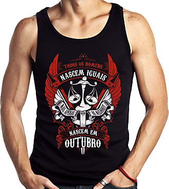 Dragon Store Camiseta Regata Homens de Outubro os Melhores Signo Libra