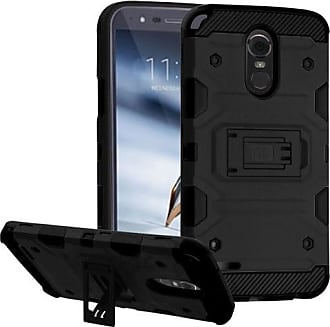 Mundaze Black Defense Double Layered Case For LG Stylo 3 PLUS Phone