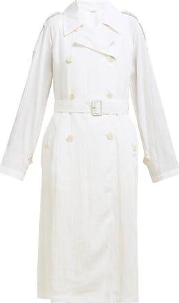 Helmut Lang Parachute Boiler Trench Coat - Womens - White