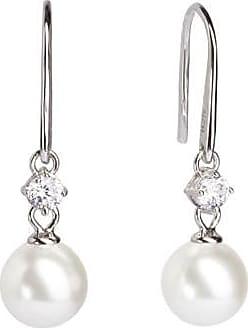 Misaki Boucles doreilles pendantes Feel en argent avec perles blanches