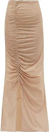 Oséree Lumière Ruched Metallic-tulle Maxi Skirt - Womens - Nude