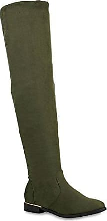 Stiefelparadies Damen Stiefel Overknees Flandell