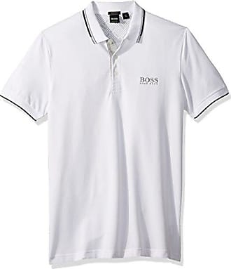 9c9d31c93 HUGO BOSS BOSS Green Mens Paddy Pro Short Sleeve Polo Shirt, White XX-Large