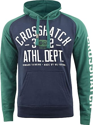Crosshatch Mens Hoodie Sweatshirt Hooded Jumper Top Pullover TEMPTONS(S,Green)