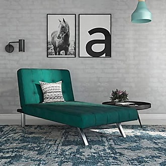 Dorel Home Products DHP Emily Chaise, Green