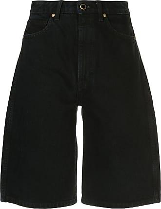 Khaite Short jeans Mitch - Preto