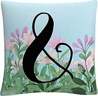 Trademark Fine Art Pink Floral Garden Letter Illustration Ampersand by ABC