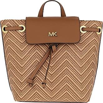 Michael Kors Junie MD Flap Backpack Acorn/Butternut