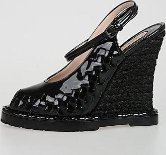 Bottega Veneta 13 cm Patent Leather Open Toe Wedges size 36