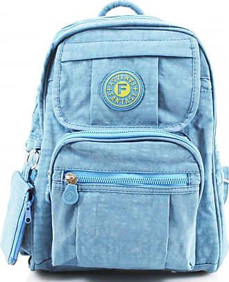 Your Dezire Womens Ladies Mini Fabric Backpack Rucksack Girls School Bag College Womens Shoulder Gym Bag Light Blue