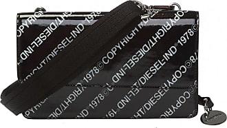 Diesel Patterned Shoulder Bag Womens Black