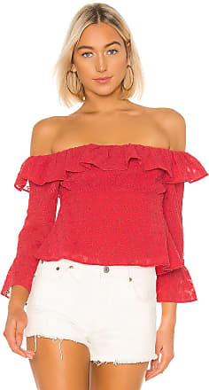 Lovers + Friends Farren Blouse in Red