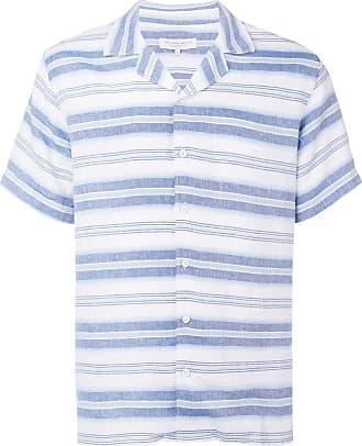 Orlebar Brown Camisa listrada de linho - Azul