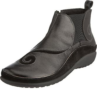 Naot Naot Womens Chi Boot, Black Leather/Black Suede, 37 EU/6-6.5 M US