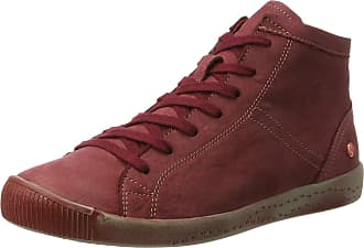 Softinos Womens Isleen Hi-Top Trainers, Red (Scarlet), 6 UK 39 EU