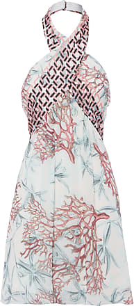 Animale Vestido Curto Mix Coral Animale - Off White