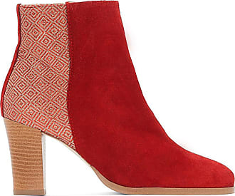 f83f11f4395a8 La Redoute Collections Boots cuir bi-matière - LA REDOUTE COLLECTIONS -  Rouge