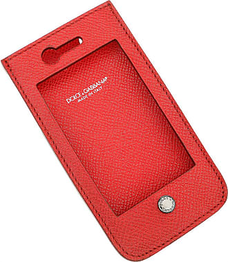 Dolce & Gabbana iPhone Cases On Sale in Outlet, Red, Leather, 2017, One size